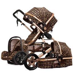 Alta passeggino paesaggio può sedersi reclinabile a doppio senso pieghevole leggero ammortizzatore neonato passeggino in Offerta