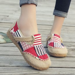 Colorful Canvas Lace Up Shoes Australia - Women's Fashion Casual Ethnic Lace Up Round Toe Comfortable Flats Colorful breathable Loafers Cloth Shoes ballet shoes