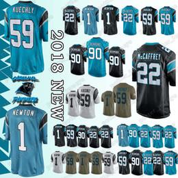 d70a3ec25 Luke Kuechly Jersey UK - Carolina Panther Jersey 1 Cam Newton 59 Luke  Kuechly 90 Julius