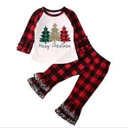 Unisex pajamas set online shopping - Kids Designer Clothes Girls Christmas Children Kids Leopard Outfit Set Santa Top Pants Xmas Family Clothes Pajamas Baby Cesigner Clothes