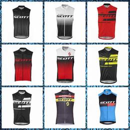 Scott Bikes Canada - 2019 New SCOTT team Cycling Sleeveless jersey Vest summer style quickdry mtb bike sportswear free delivery U51008
