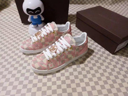 Metal Sneakers Australia - Top Quality Luxury Women Letter Metal Buckle Printing Casual Shoes Cowhide Leather Beige Frontrow Sneakers 1a2xoq Sports Shoes