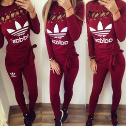 Discount neo box - NEO Women's chicken eye style sports suit Long sleeves + trousers Two pieces Athletic Wear girl Yoga wear