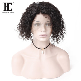 Discount kinky straight bob - Pre Plucked Short Bob Wigs For Black Women 100% Human Hair Lace Frontal Wig Fashion Middle Part Kinky Curly Brazilian Vi