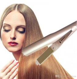 Fast hair curler online shopping - Hot Gold Plated Titanium Plates Hair Straighteners Hair Irons Fast Hair Straightening Ceramic Curler Styling Tools