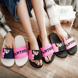 women cartoon flip flop NZ - PXELENA Cute Cartoon Animal Women Summer Slippers Home indoor Flat Slides Girls Lovely Beach Flip Flops Bedroom Shower Shoes New