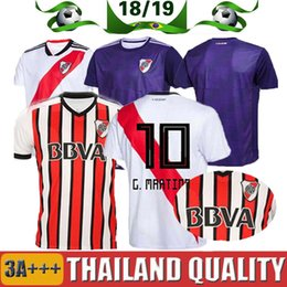 Discount river plate jerseys - 2019 River Plate home white Soccer Jersey River Plate away red Soccer Shirt 18 19 riverbed Customized football Uniform S