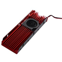 pci hard drive NZ - 2020 for PCI-E NVME NGFF M.2 SSD 2280 Sheet Hard Drive Cooler Cooling Fan Red