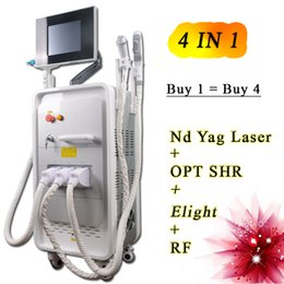 Laser Hair Face Canada - nd yag laser tattoo removal machine RF face lift Skin Tightening machine ipl opt shr hair removal machine multi beauty equipment