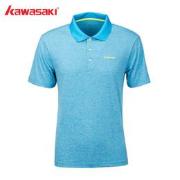 $enCountryForm.capitalKeyWord Australia - Kawasaki Badminton Shirt Men Tennis Training Gray Breathable T-Shirt Short Sleeve Quick Dry Sport Clothing For Male ST-S1117