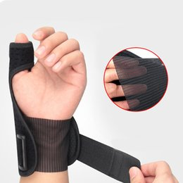 Discount fingers brace - 1 piece Sport Thumb wrist Support Hand Brace Wrist Guard Support Protector Finger Stabiliser Pain Relief Wrap Protection