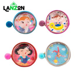 $enCountryForm.capitalKeyWord NZ - Cute Printed Clear Coin Purse Lovely Girl Cartoon Small Round Wallet Mini Lipstick Earphone Storage Bag Pocket Zipper Money Bags