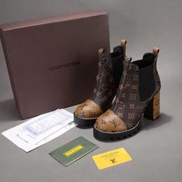 Groihandel Mode Frauen Designer Luxuriöse Marke Star Trail Schwarzes Herz Stiefeletten Dreibettzimmer Braun Leder Stiefel Damen Grenzenlose Stiefel Mit Box