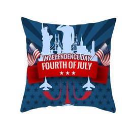 $enCountryForm.capitalKeyWord UK - Celebration 4th of July Independence Day festival Pillow case America USA Flag Sofa Cushion Cover Striped Printed Pillowslip hone decoration