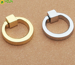 Ring Pull Drawer Handles NZ - Dresser Drawer Drop Rings Cupboard Knobs Silver Gold Kitchen Cabinet Pulls Knobs Pull Handle Modern Decorative Hardware