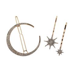 $enCountryForm.capitalKeyWord UK - 18Pcs set Moon Star Rhinestone Hairpin Hair Clip Hair Pin Wedding Bridal Hairwear Accessories Headbands Women Jewelry Gifts