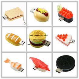 Flash Drives cibo Hamburger USB 16GB Sushi biscotti svegli Oreo Pendrive 8GB Memory Stick Pen Drive da 32 GB Flash Disk 4 GB di archiviazione Cle 128g