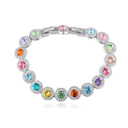 Top Selling Austrian Crystal from Swarovski Charm Bracelets For Women  Fashion Colorful Famous Brand Jewelry Christmas Bijoux Gift b3d8f4489