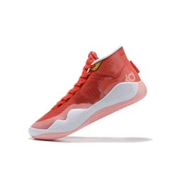 $enCountryForm.capitalKeyWord Australia - Cheap men kd 12 basketball shoes new kds aunt pearl pink White BHM Red boys kd12 kevin durant xii sneakers boots with box for sale size 7