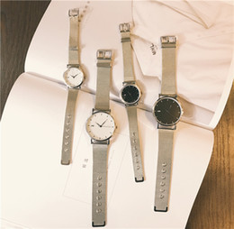 $enCountryForm.capitalKeyWord UK - Wrist Watch Schoolgirl Korean Concise Leisure Time Atmosphere Trend Fashion Metal Watchband Silver Chain Quartz Woman Surface Thinning