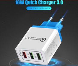 Vente en gros Chargeur rapide QC 3.0 Adaptateur Rapide Rapide Adaptateur 3 Port USB Adaptateur Flash pour Téléphone Mobile US EU Chargeur USB pour Xiaomi Samsung Huawei 50