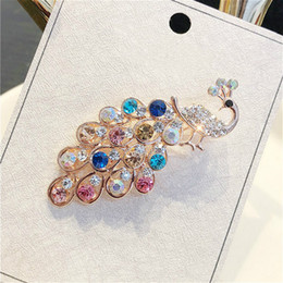 $enCountryForm.capitalKeyWord Australia - Pearl Fashion Vintage Retro Brooch Scarf Buckles for Women Girls Zircon Crystal Swan Peacock Fox Flowers Design