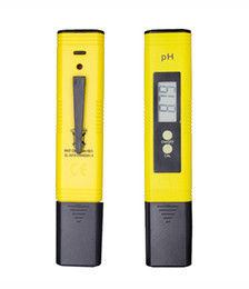 Wholesale 2019 New Protable Digital PH Meter 0.00-14.0 PH Tester for Aquarium Pool Wine Automatic Calibration Water Quality Monitor Measuring tools