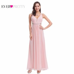 4a96b30102 Ever Pretty EP07081 New Summer Pink V Neck Backless Evening Party Dress  2018 Sexy Long Beaded Prom Gowns Vestido Largo De