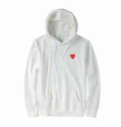 Wholesale Trend brand PALY hoodie mens designer hoodies classic small red heart embroidery sweatshirt fashion cotton high quality hooded sweater S XXL