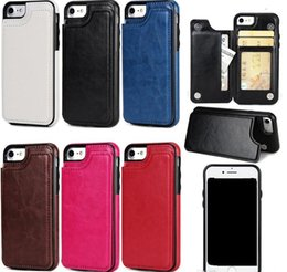 Leather Case Iphone Id Australia - For iphone X 8 7 Wallet Leather Case Card Money Slots Slim Multi-functional Folio ID Window Shockproof TPU Cover for S9 S8 Note8