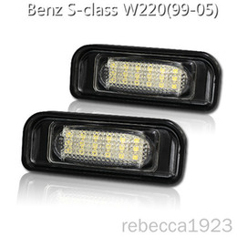 number plate prices NZ - Car led license plate lamps For Benz S-class W220(99-05) Factory Price Led number plate light 13.5V 6000K