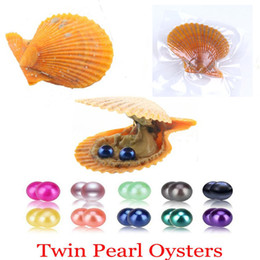$enCountryForm.capitalKeyWord Australia - 2018 DIY Natural Pearl 6-7MM Round Pearl in Oysters Akoya Oyster Shell with Colouful Pearls Jewelry By Red shell Vacuum Packed