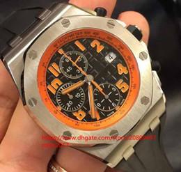 $enCountryForm.capitalKeyWord Australia - Mens Basel World KV Date Mens Watch DC ETA 7750 26170ST Orange digital dial Chronograph Automatic Men Sport Rubber band Wristwatches