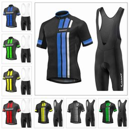 Giant Road Cycles NZ - New 2019 GIANT Cycling Short Sleeves jersey (bib) shorts sets Men road bike clothing breathable short sleeve riding suit K040308