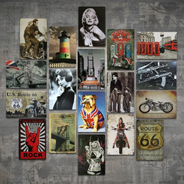 Bar Paintings Australia - Old Wall Metal Painting ART Bar Champion Shell Motor Oil Garage Route 66 Retro Vintage TIN SIGN Man Cave Pub Restaurant Home Decoration