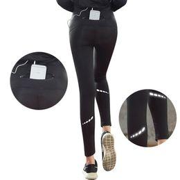 Fiber Fun Australia - New fitness pants for women in autumn and winter sports running tight yoga pants fast dry stretch high waist pocket reflective fun run