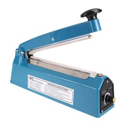 Plastic Heat Pack Australia - Impulse Sealer Heat Sealing Machine Kitchen Food Sealer Vacuum Bag Sealer Plastic Bag Packing Tools EU Plug 220V 300W 8""