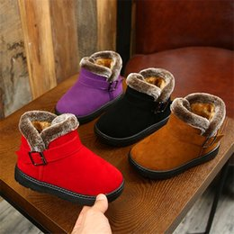 ShoeS year old kid online shopping - New Plush Warm Baby Toddler Boots Fashion Child Snow Boots Shoes For Boys Girls Winter Shoes Year old Kids Ankle