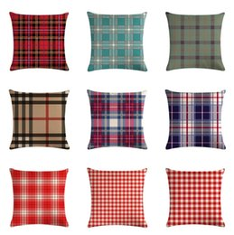 Pillow cases sizes online shopping - 18 Colors Throw Pillow Covers Ethnic Bold Plaid Pattern Pillowcase Home Decor Sofa Pillow Case Square Size x CM Cushion Cover
