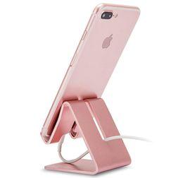 Cep Telefonu Standı, Alüminyum Metal Tablet Standı, Cep Telefonu Tutucu iPhone iPad Samsung için Masa Masa Yatak Odası Mutfak için (Gül Altın)