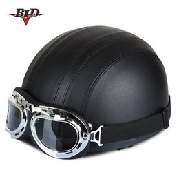 $enCountryForm.capitalKeyWord NZ - The global hot sales Motorcycle Helmets For Open Face Retro Half Moto Helmets With Goggles Leather Scarf Helmet