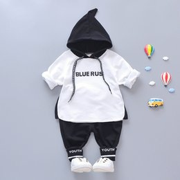 Boy Chinese Suit Australia - 2019 Spring Baby Boy Girls Clothing Toddler Infant Clothes Suits Hooded Sweatshirt Pants Leisure Sport Sets Kid Children Costume