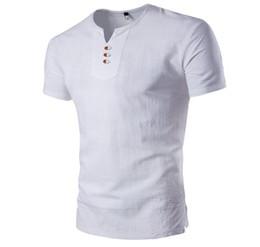 Опт Летний новый корейский хлопок Pure Color V-образным вырезом мужская футболка с коротким рукавом Бесплатная доставка