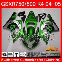 Star compreSSion online shopping - Bodywork For SUZUKI GSXR green stars hot GSX R750 GSX R600 GSXR600 HC GSXR GSXR K4 GSXR750 Fairing kit