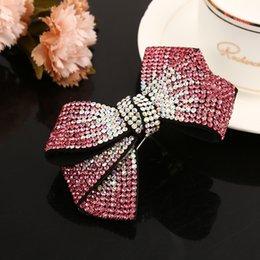 Ingrosso Coreano nuova primavera semplice copricapo papillon strass barrettes clip di capelli ragazza donne moda bella copricapo accessori per capelli