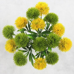 Chinese  Single Stem Dandelion Artificial Flowers Dandelion Plastic Flower Wedding decorations length about 26cm Table Centerpieces manufacturers