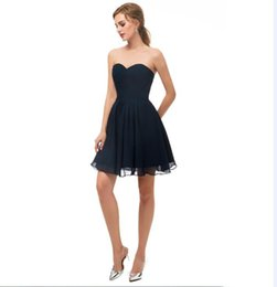 $enCountryForm.capitalKeyWord Australia - 2019 chiffon In Stock Short Homecoming Dresses under 50 Real Photos Sweetheart mini Party Gowns sexy navy blue short Graduation Dress 12674