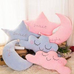 Cloud Plush Pillow Soft Gentle Colour Rainbow Stuffed Soft Star Throw Pillow Baby Kids Sofa Home Decor Girls Moon Cushion Meteor Toys & Hobbies