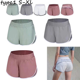 Chinese  U&A Women Fitness Yoga Gym Shorts with Liner Sports Elastic Shorts Summer Teenager Running Short Pants Quick Dry Jogger Leggings New C73003 manufacturers