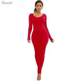 long sleeve maxi dresses Australia - Long Sleeve Maxi Dress Elastic Women Sexy Dresses 2019 New V Neck Spring Elegant Summer Casual Boho Beach Bodycon Dress